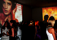 XXXX MAGAZINE VIDEO ART INSTALLATION AT THE SOIREE AU LOUVRE BENEFIT